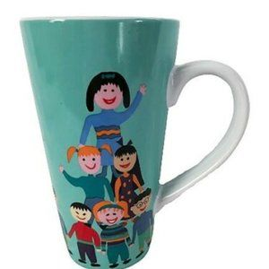 """SAVE THE CHILDREN """"A Stack of Kids"""" Latte Mug Cup!"""